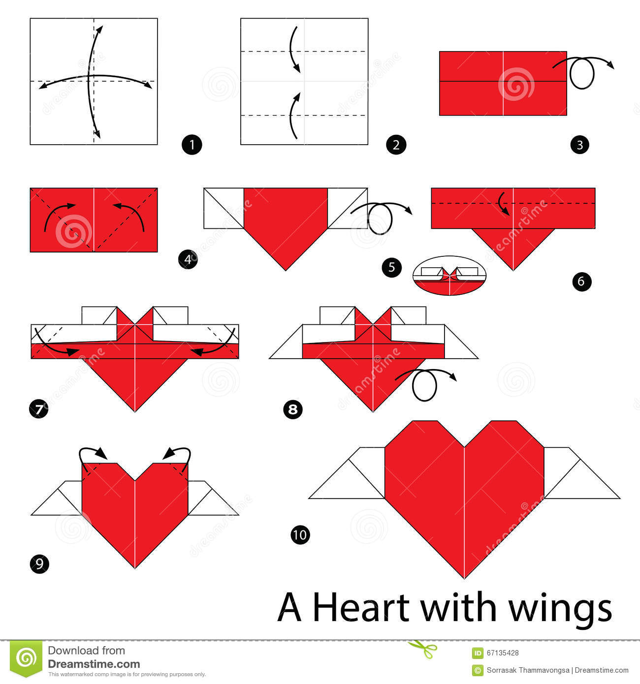 Step By Step Instructions How To Make Origami Heart With ... - photo#24