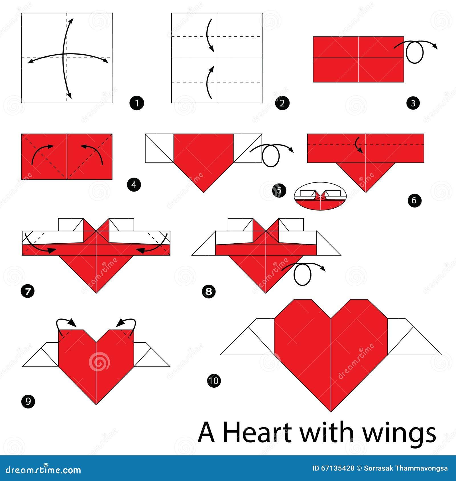 Схемы оригами сердце для денег