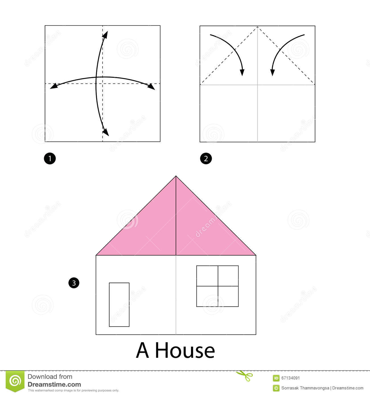 Step by step instructions how to make origami a house for How to build a house step by step
