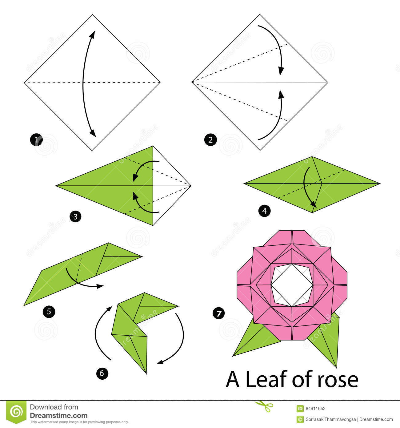 Step By Step Instructions How To Make Origami A Leaf Of ... - photo#17
