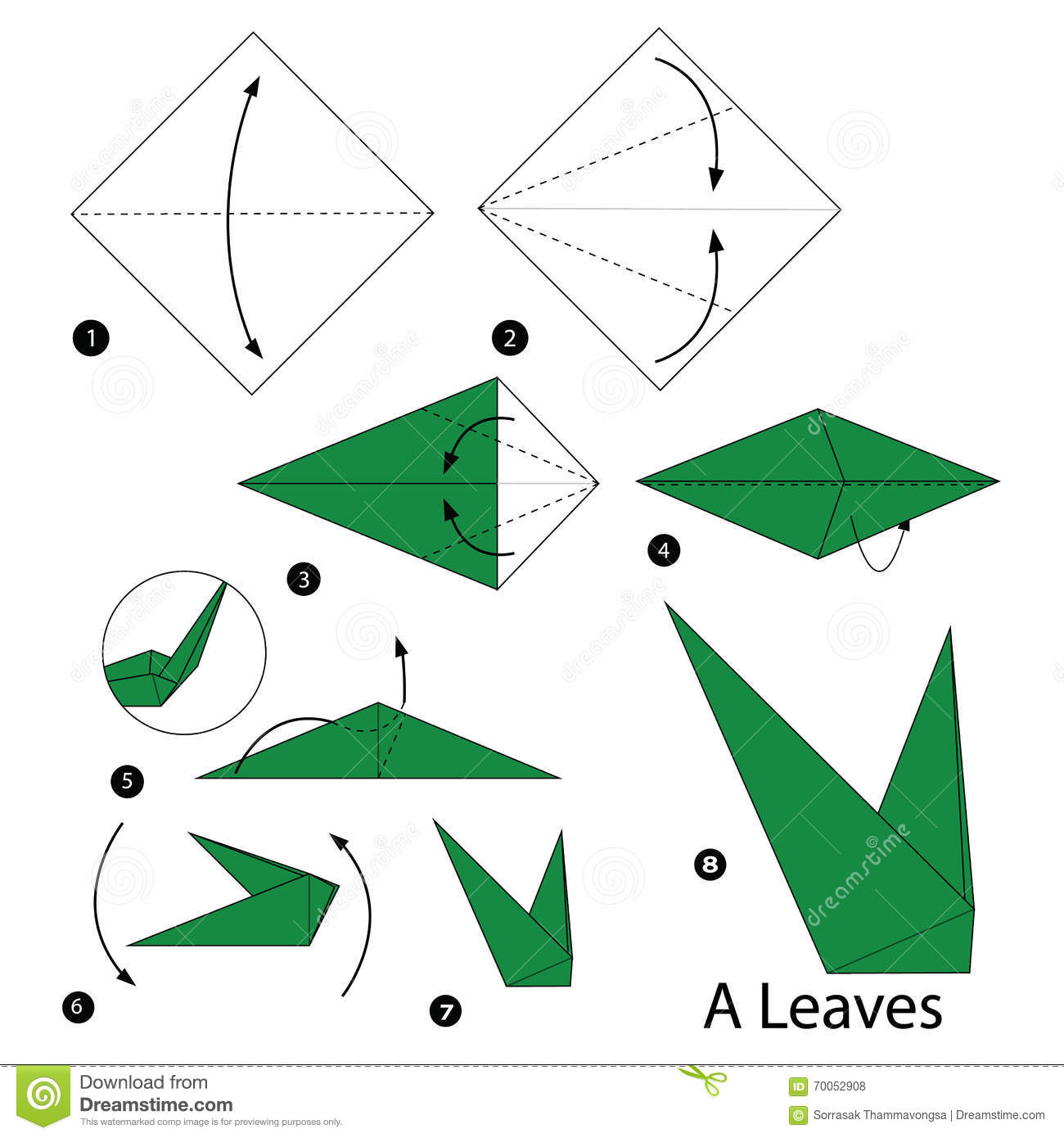 Origami origami 3d origami instructions book 3d origami instructions - Step By Step Instructions How To Make Origami A Leaves