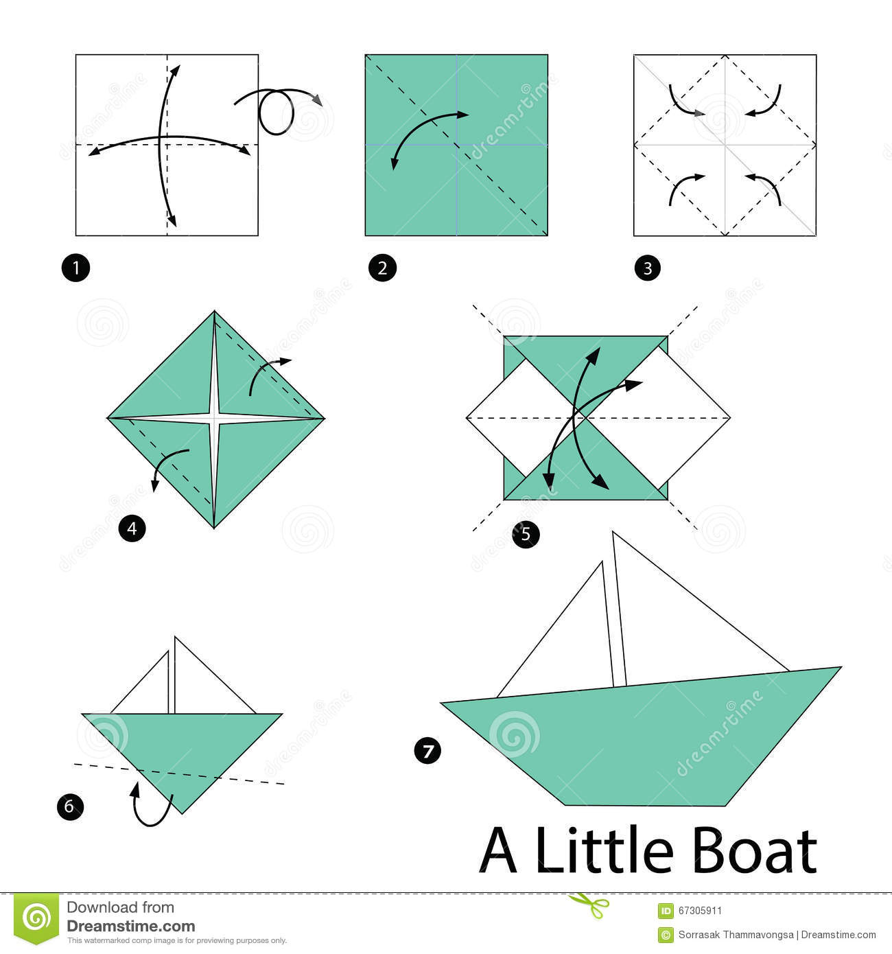 Step By Step Instructions How To Make Origami A Little ... - photo#41