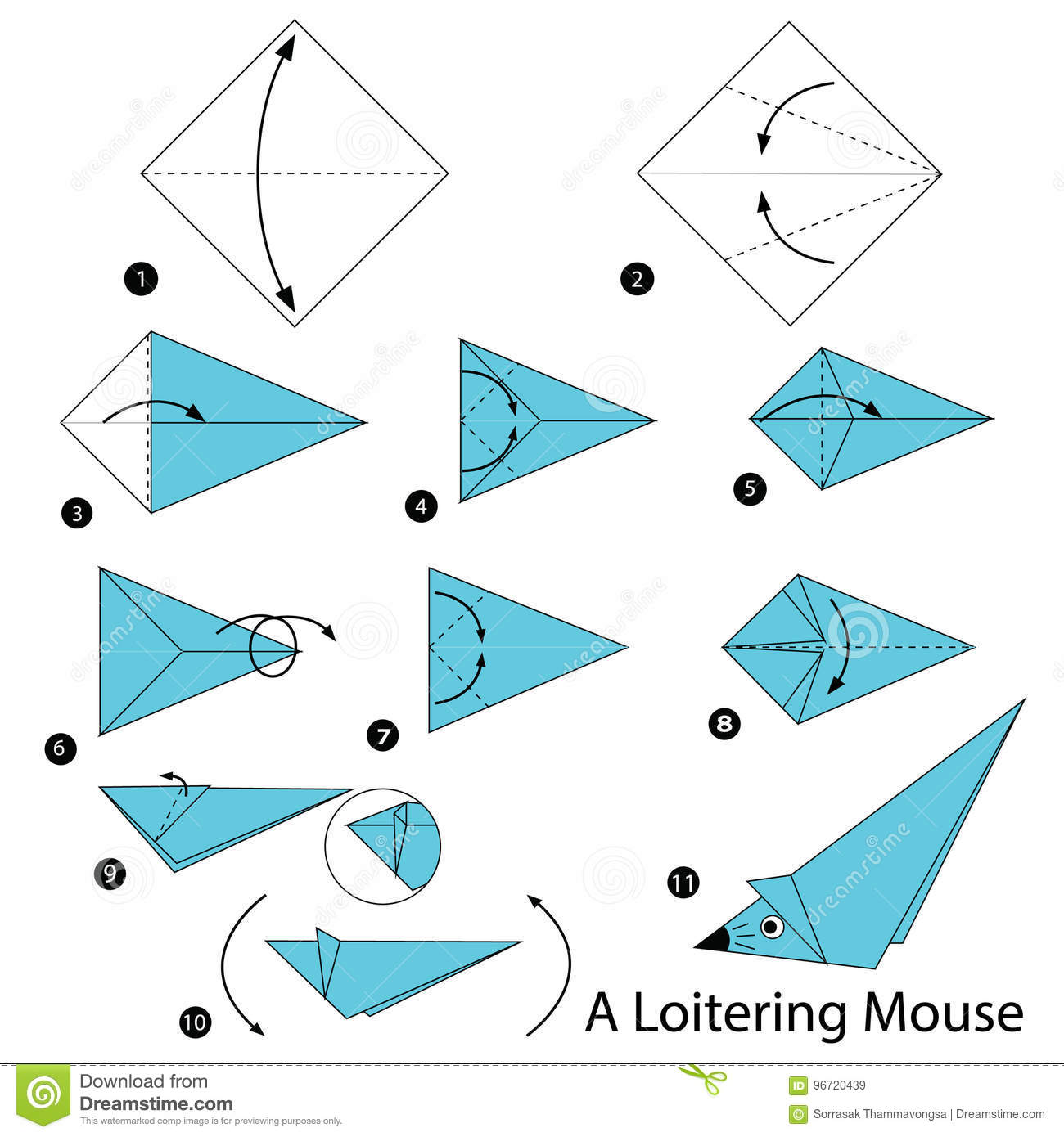 Origami Mice A Cute Paper Mouse Craft Papier Origamiorigami Diagramorigami Instructionsorigami