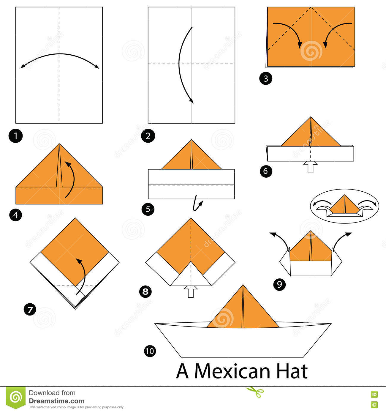how to make an origami paper hat | Tutorial Origami Handmade - photo#1