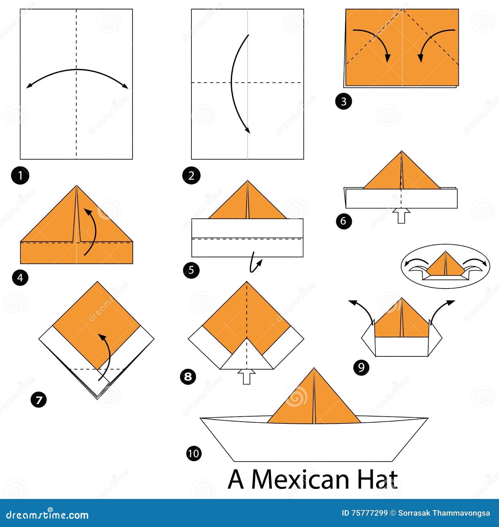 Оригами из бумаги схемы шляпа