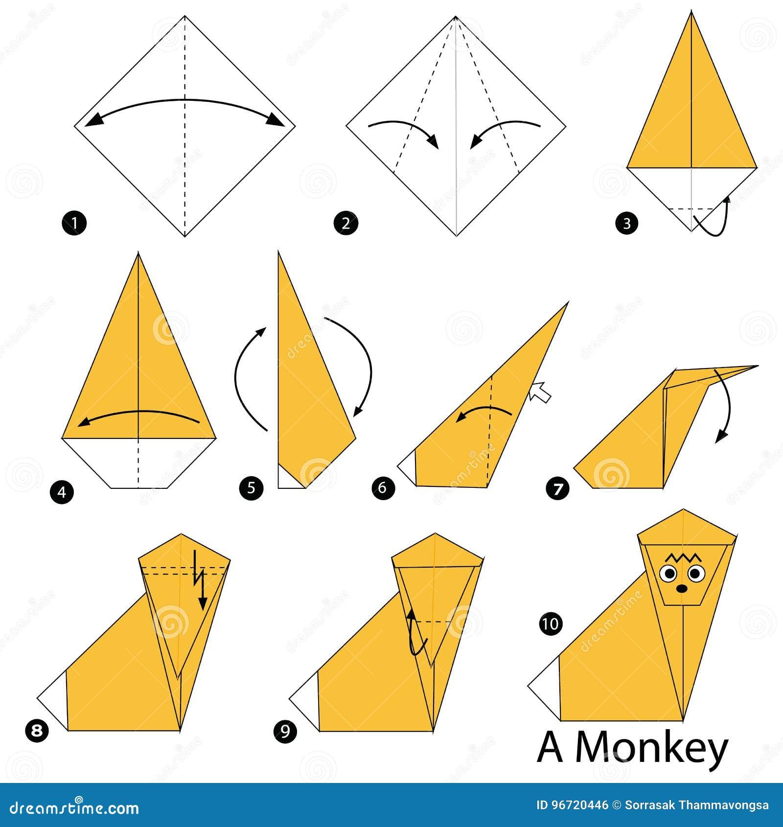 Origami Koala Face Folding Instructions - How to Fold an Origami ...   1390x1300