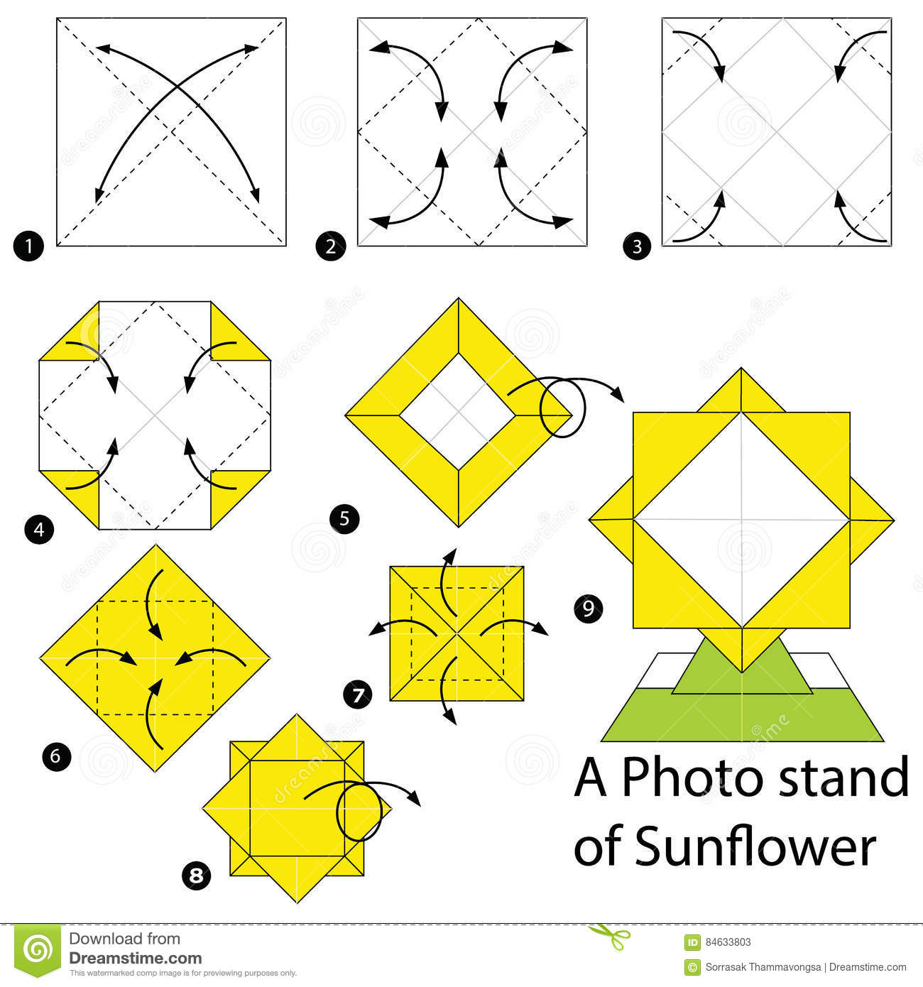 Amazing origami sunflower easy but cool | How to make a paper ... | 1390x1300