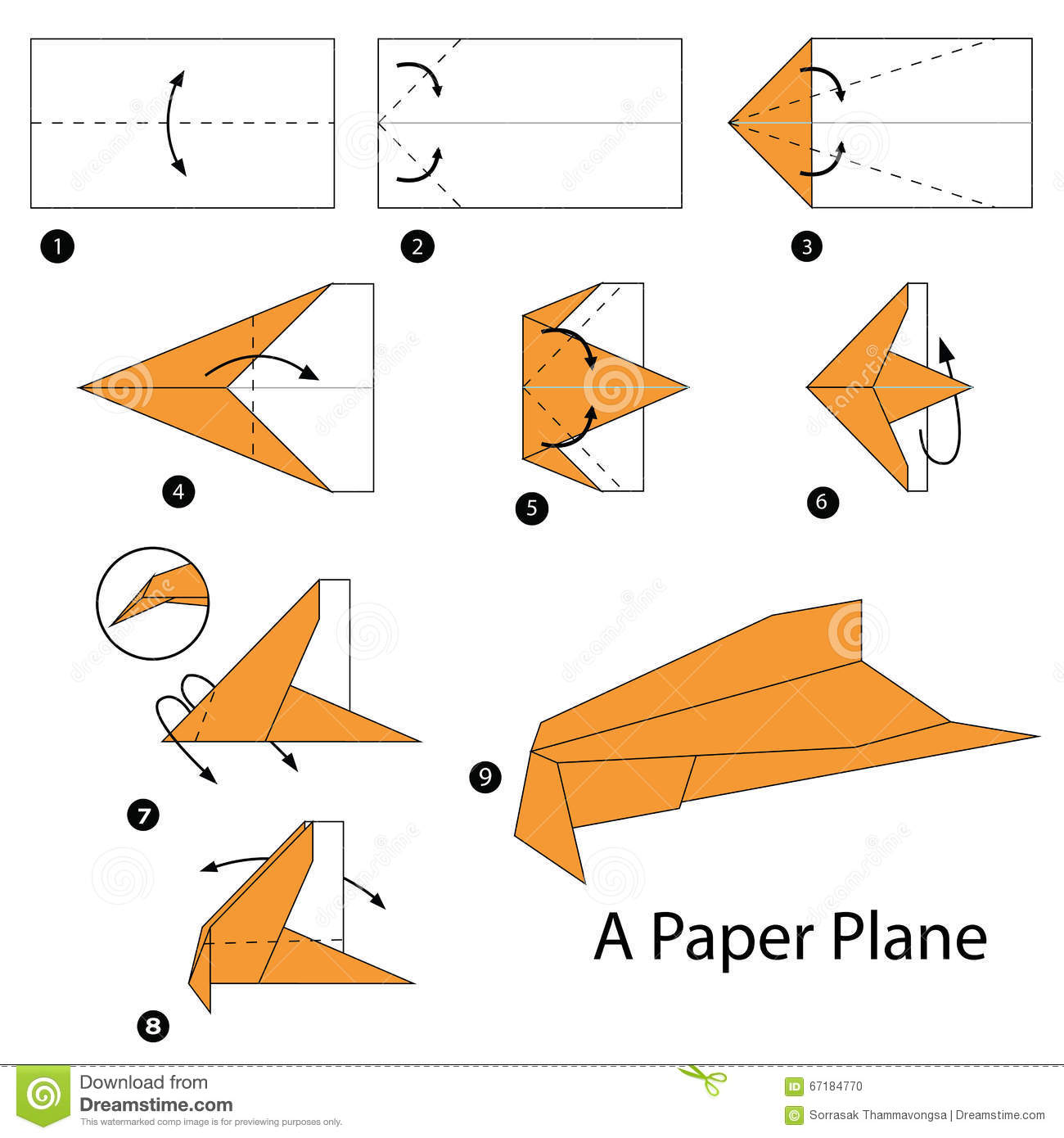 Step by step instructions how to make origami a plane stock step by step instructions how to make origami a plane jeuxipadfo Images