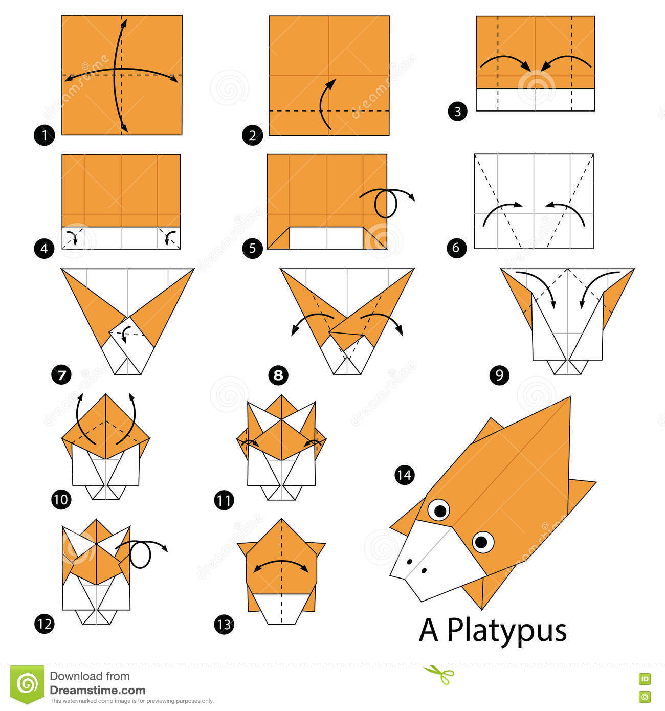 Step By Step Instructions How To Make Origami A Platypus ... - photo#37