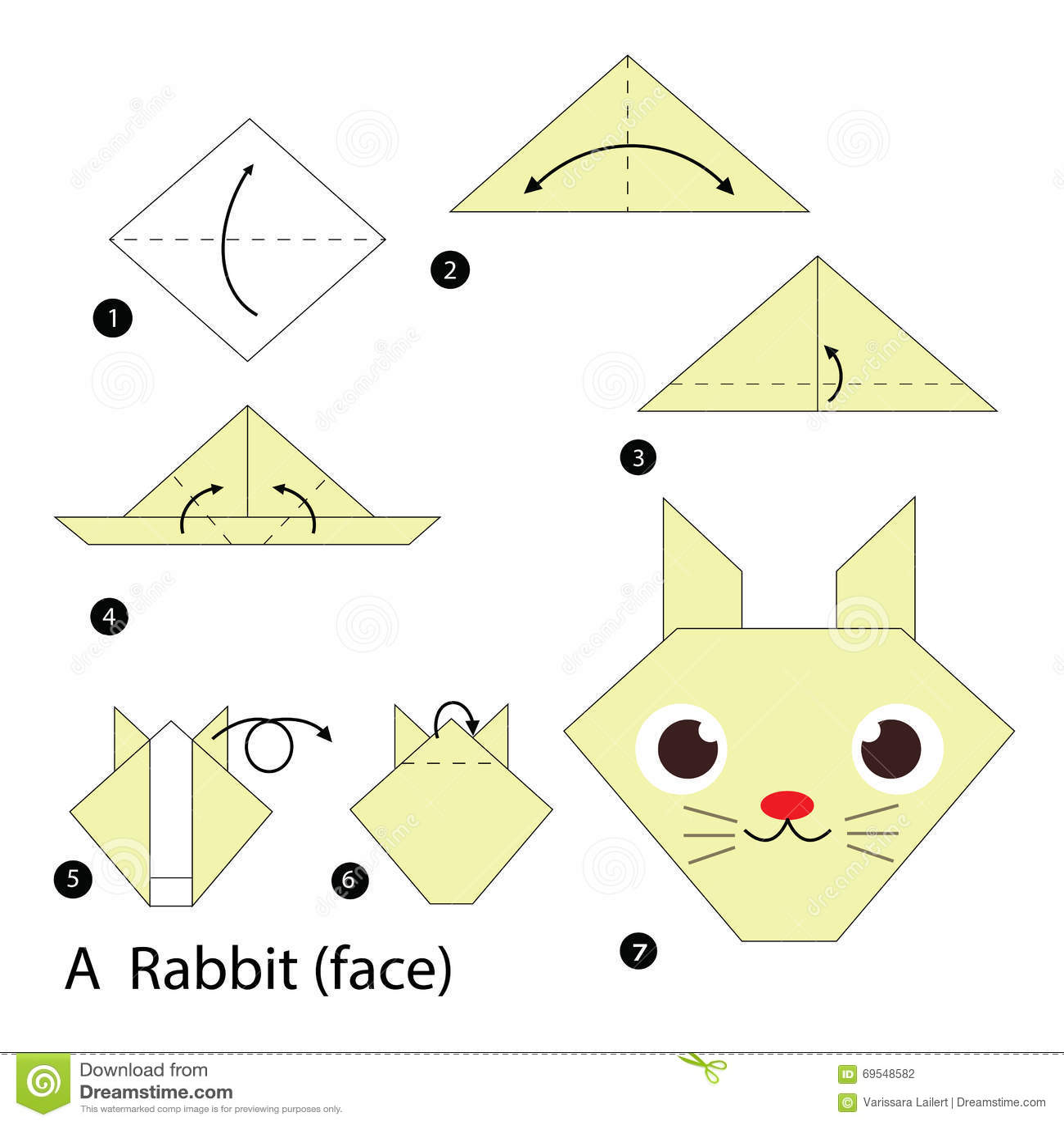 origami instructions | advanced origami bunny | Instruções origami ... | 1390x1300