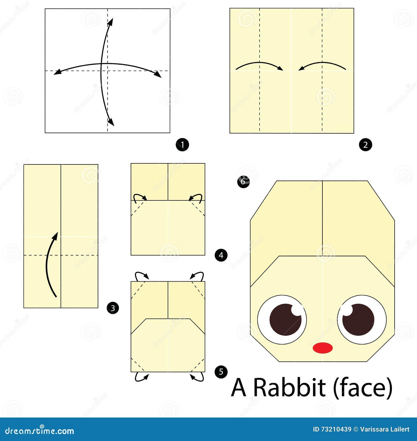 3d Origami Rabbit Instructions A Face Paper Origami Rabbit Face