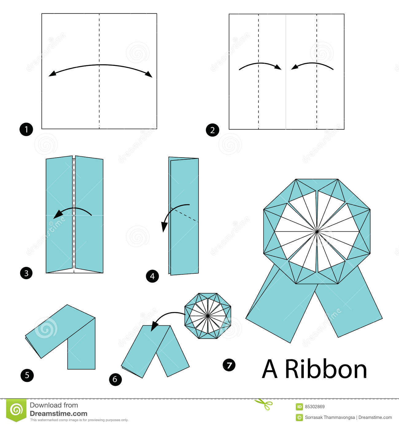 Make an origami bow | origami bow, origami ribbon, origami easy.