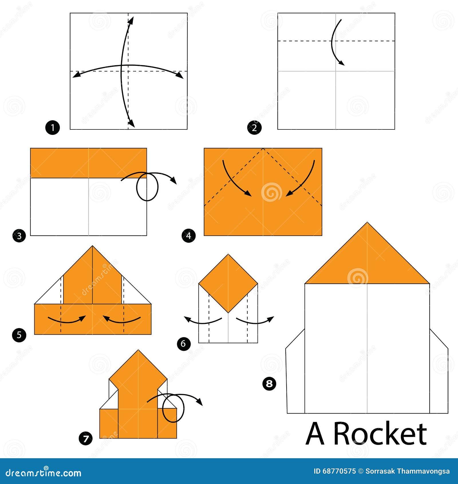 Как сложить ракету из бумаги