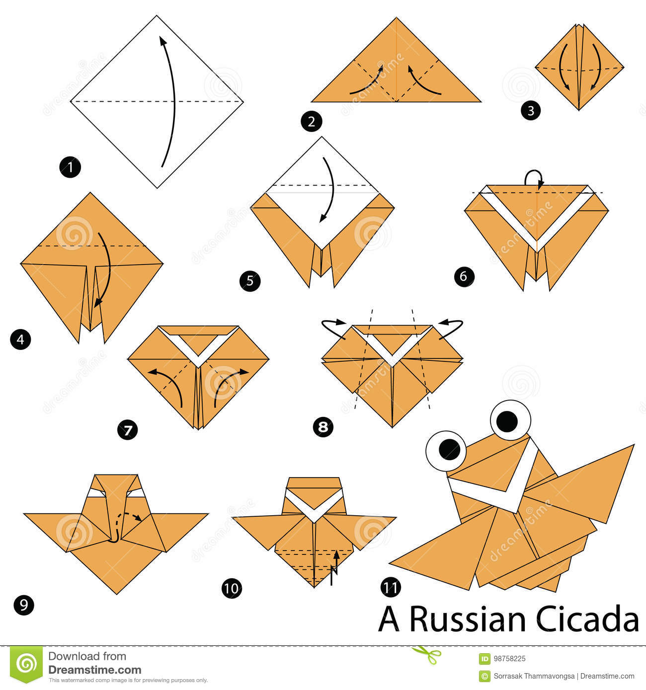 Step By Instructions How To Make Origami A Russian