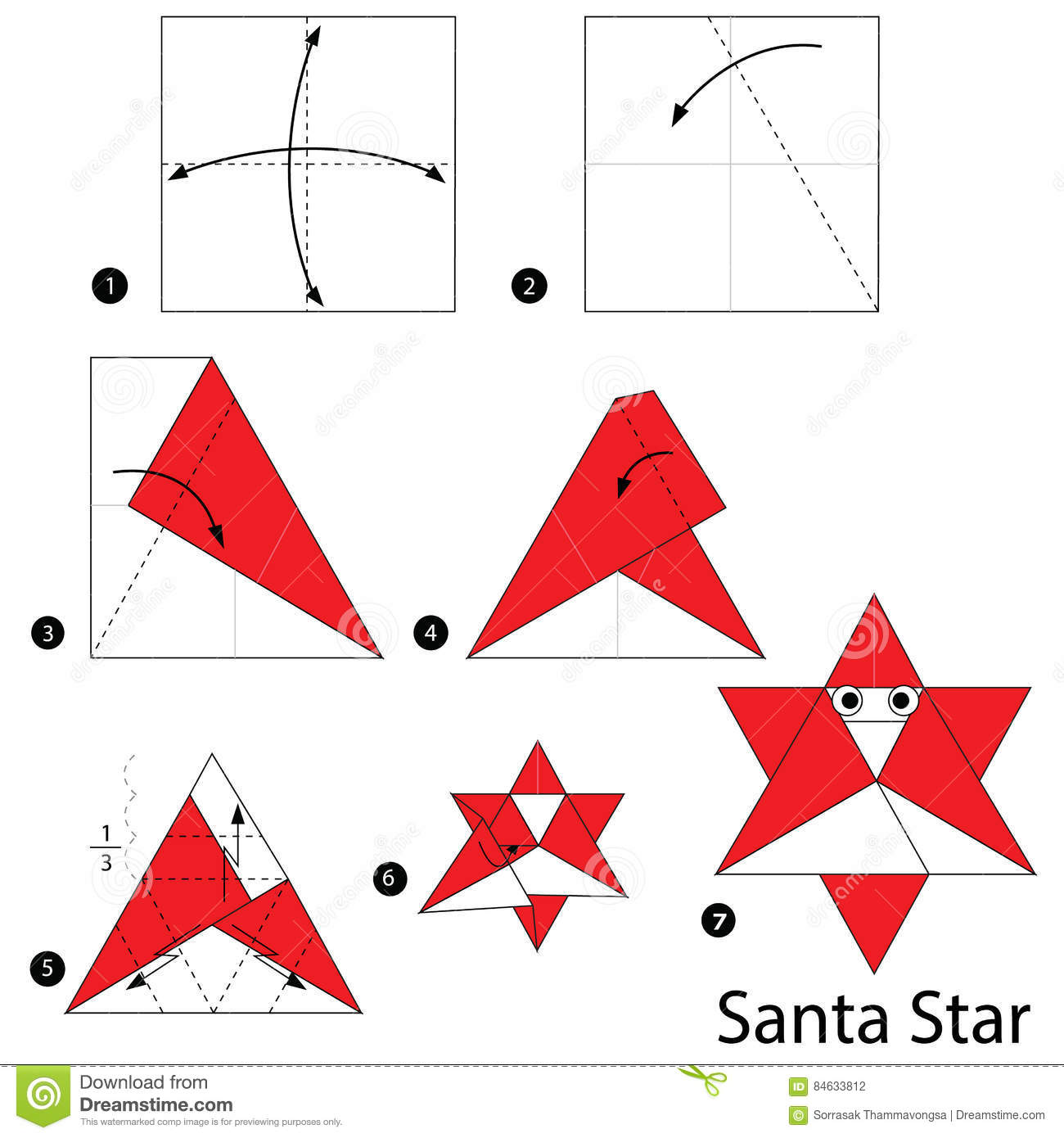 How to Make an Origami Santa Boots Instructions | Free Printable ... | 1390x1300
