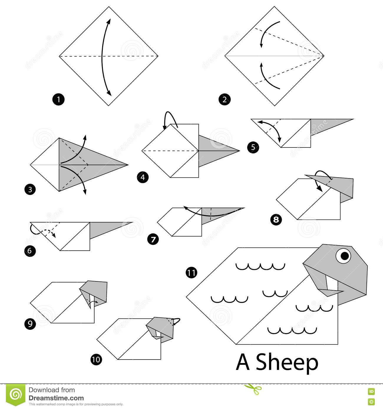how to draw a sheep step by step easy