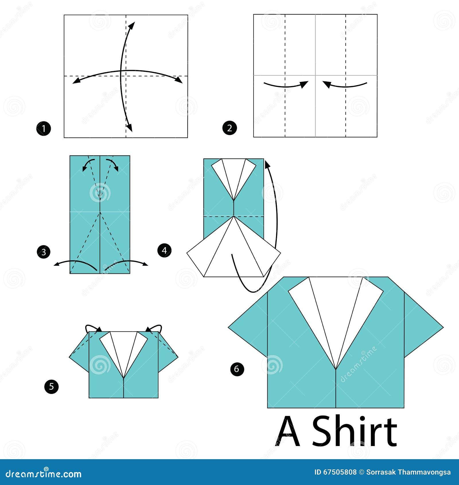 Как сделать бумажную рубашку с галстуком