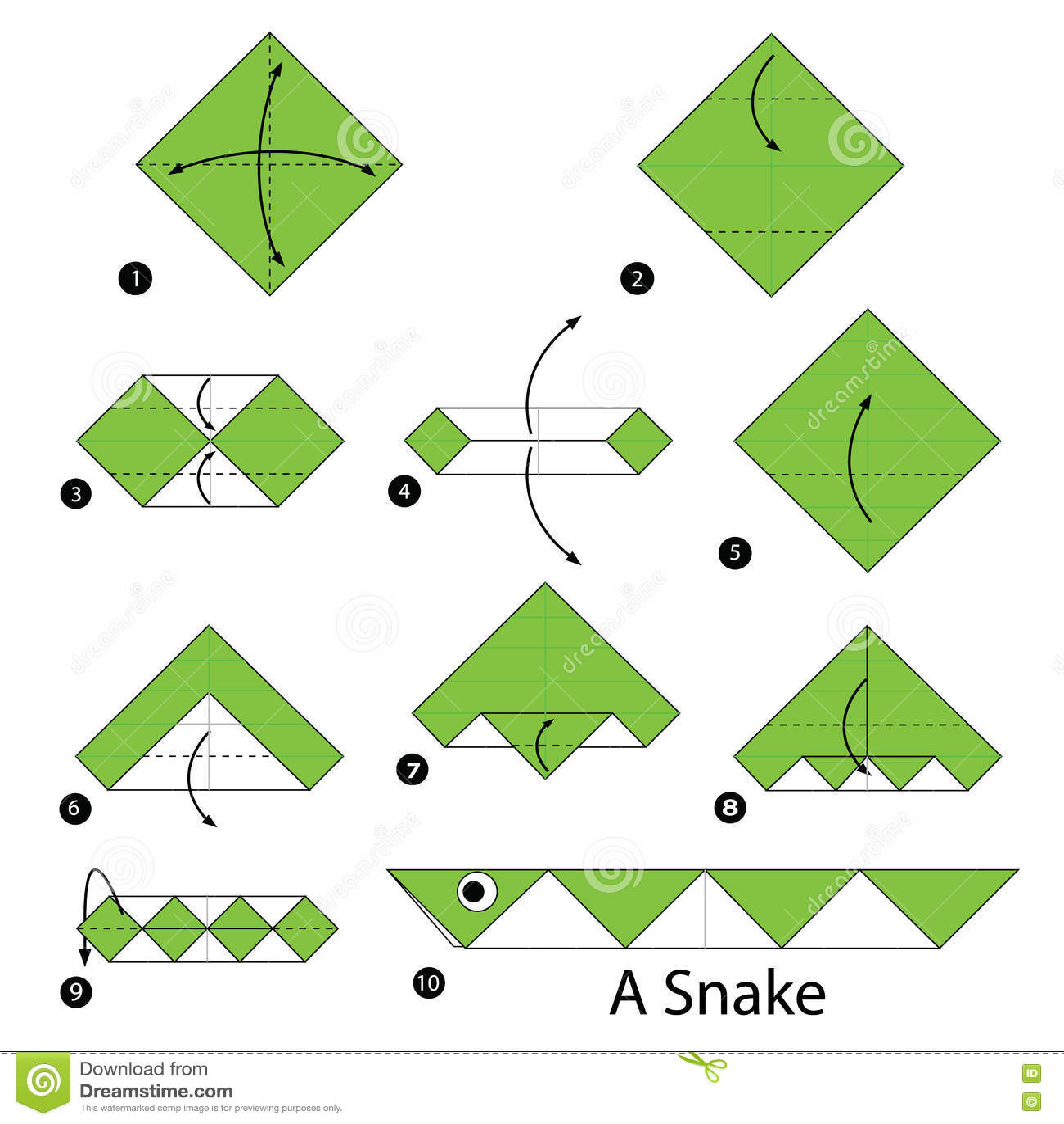 Step Fold Origami Snake | Tutorial Origami Handmade - photo#7
