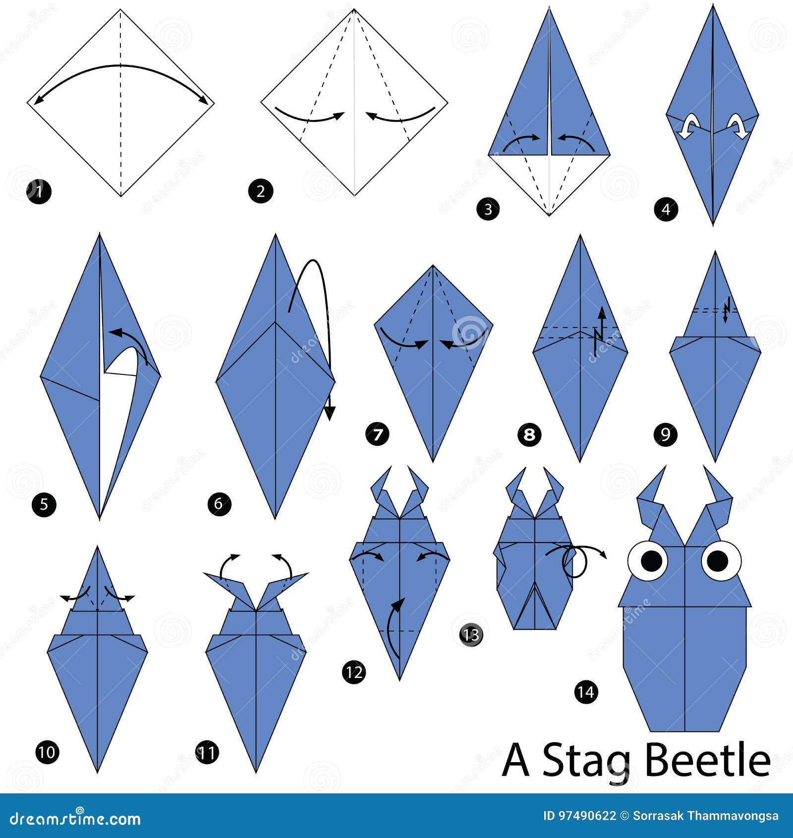 Origami Beetle (Jo Nakashima) - YouTube   1390x1300