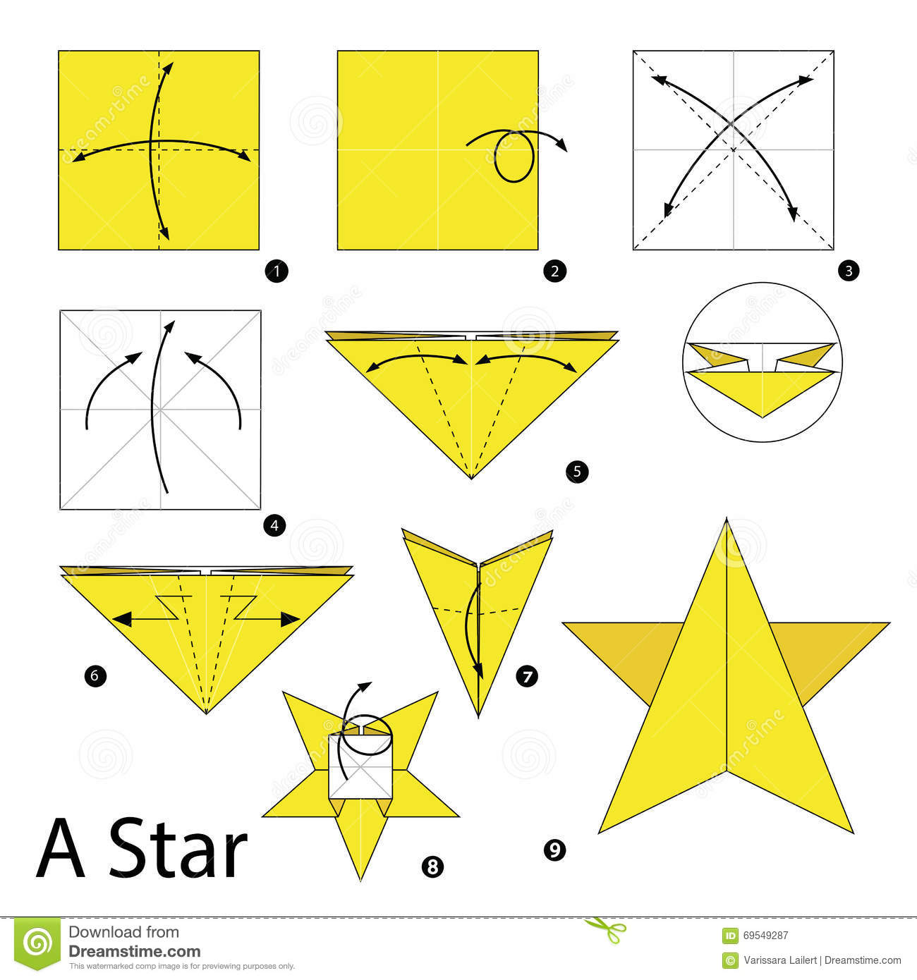 Step By Step Instructions How To Make Origami A Star ... - photo#14