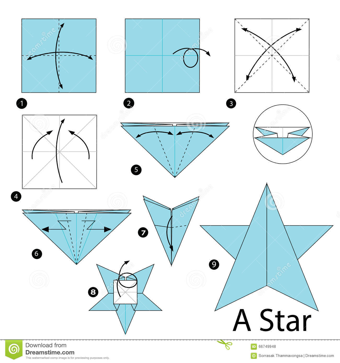 Step By Step Instructions How To Make Origami A Star ... - photo#29