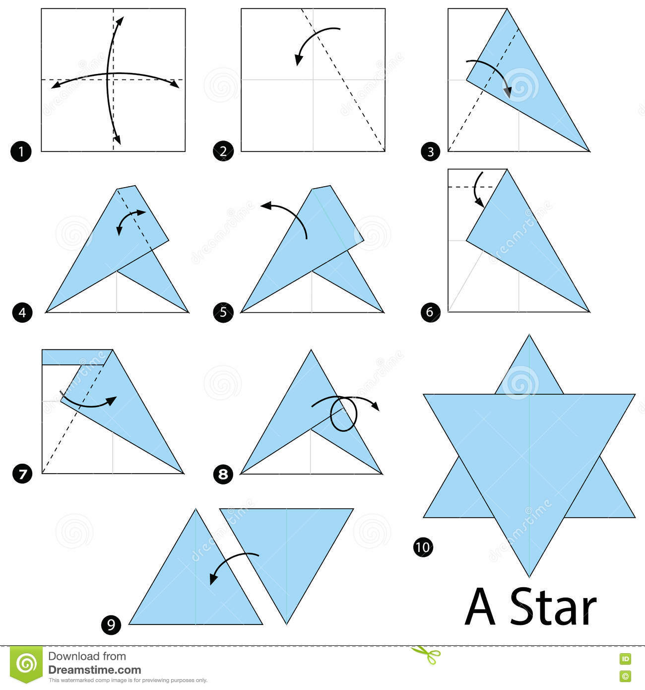 Step By Instructions How To Make Origami A Star