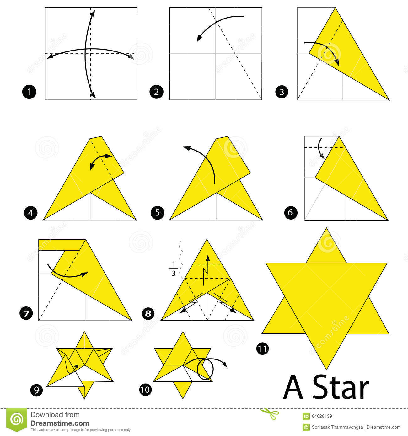 step by step origami star | Tutorial Origami Handmade - photo#11