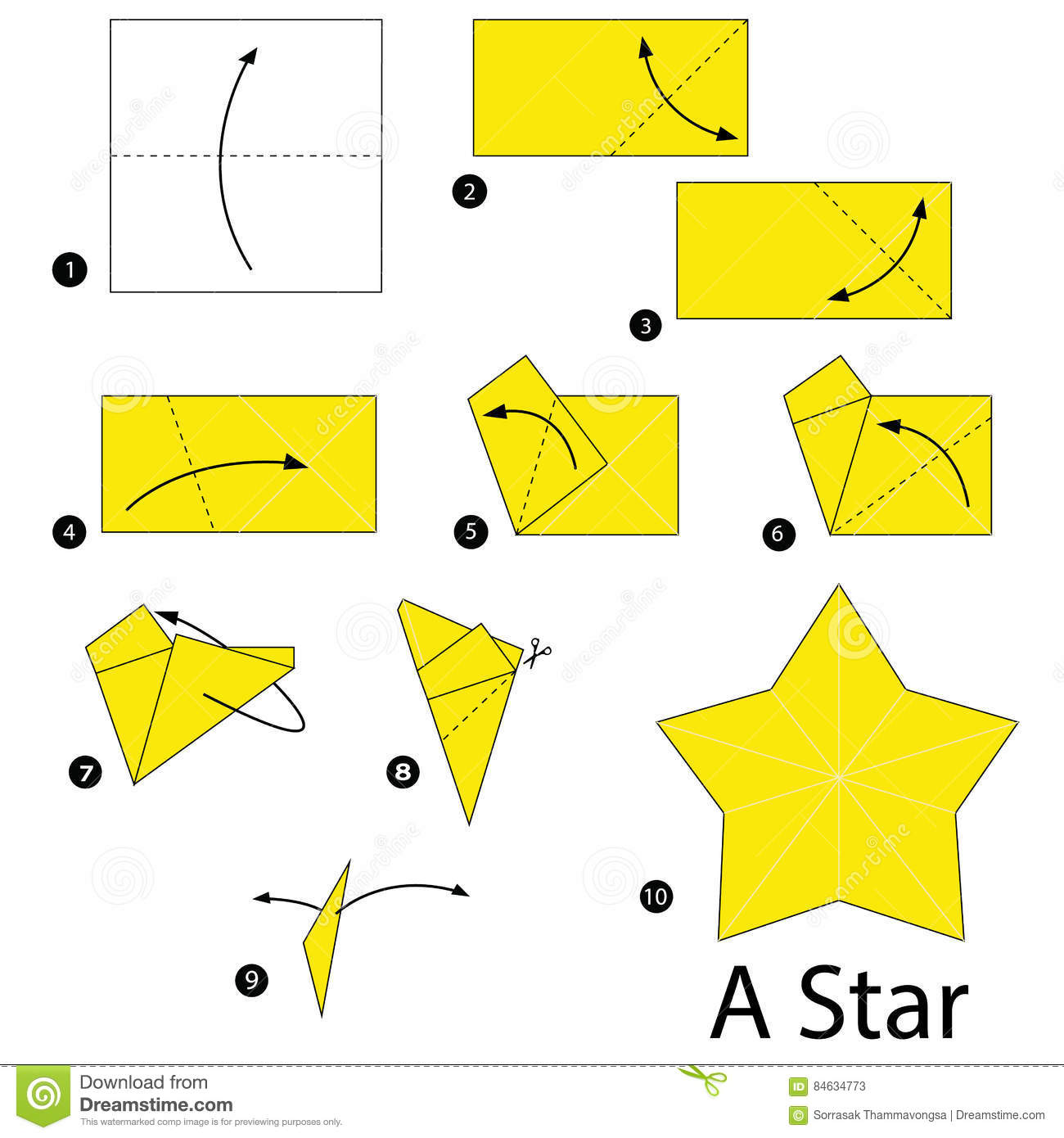 Step By Step Instructions How To Make Origami A Star ... - photo#33