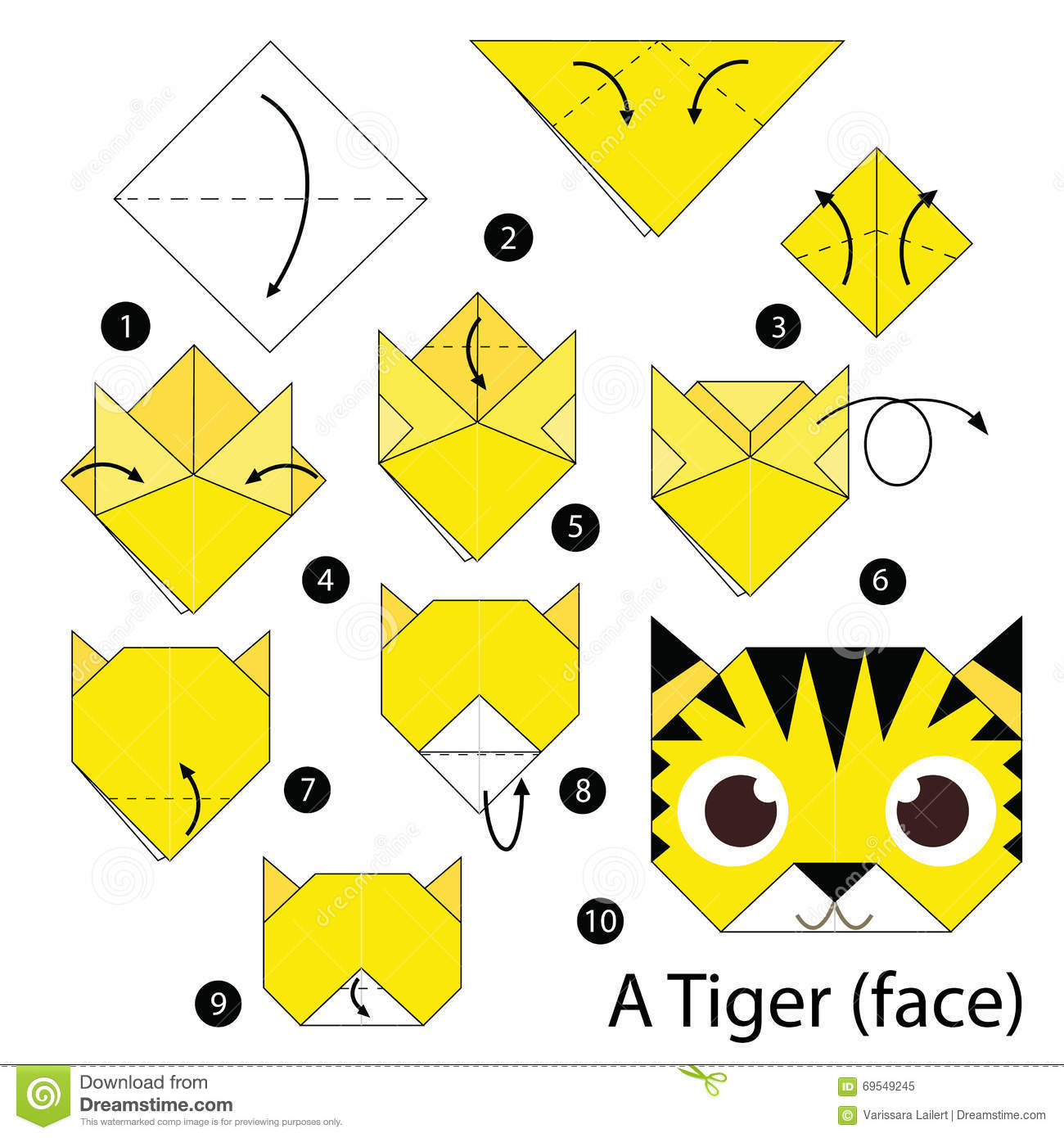 Step By Step Instructions How To Make Origami A Tiger ... - photo#7