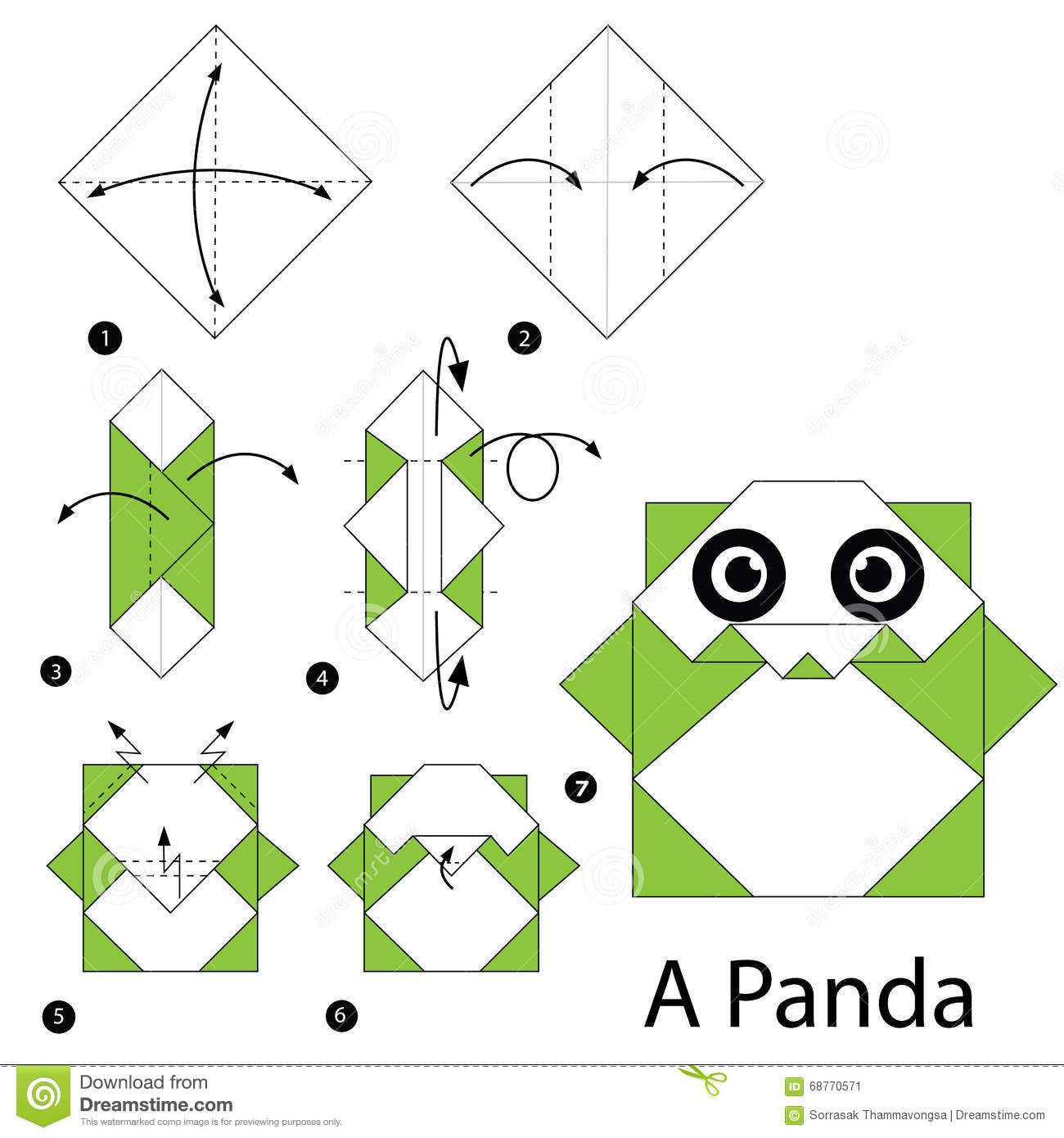 Animal Origami For The Enthusiast Stepbystep Instructions Sword Diagram Http Wwworigamiguidecom Origamiwolfhtml