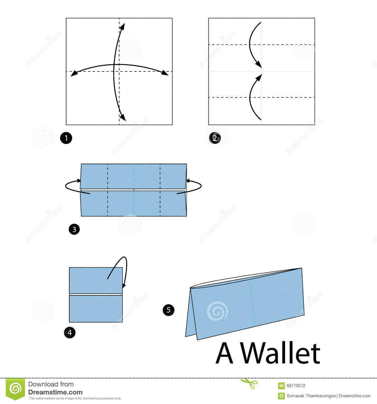 Origami Wallet Diagram Step By Step House Wiring Diagram Symbols