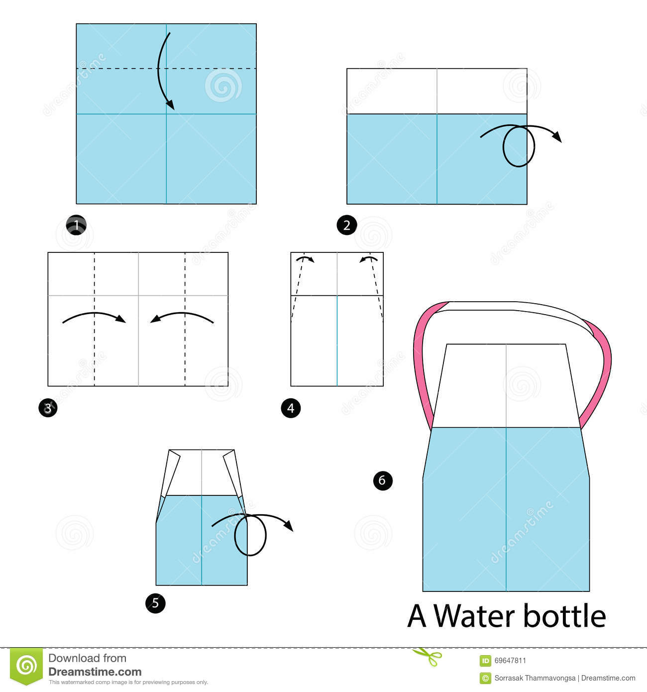 Step By Step Instructions How To Make An Origami A Water ... - photo#30