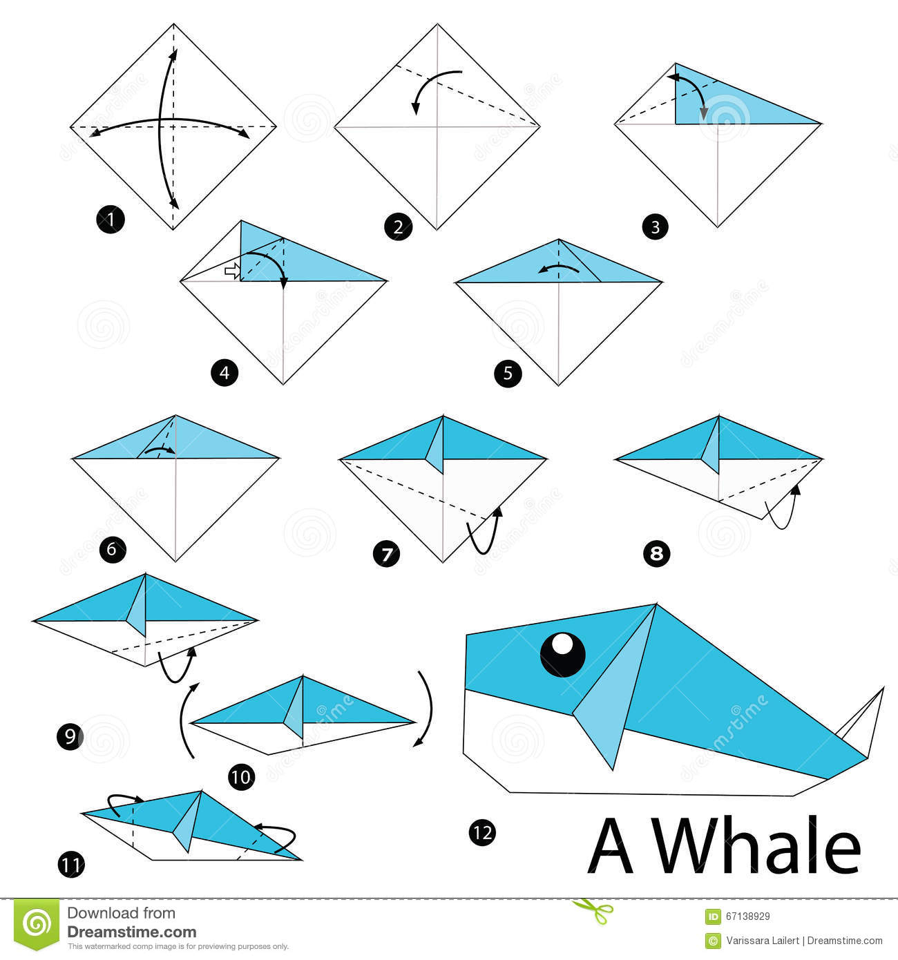 Step By Step Instructions How To Make Origami A Whale ... - photo#46