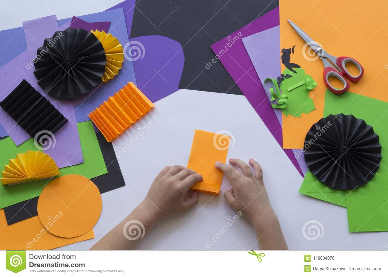 Step By Master Class Create A Decoration For Party From Halloween Origami Diagram Pumpkins