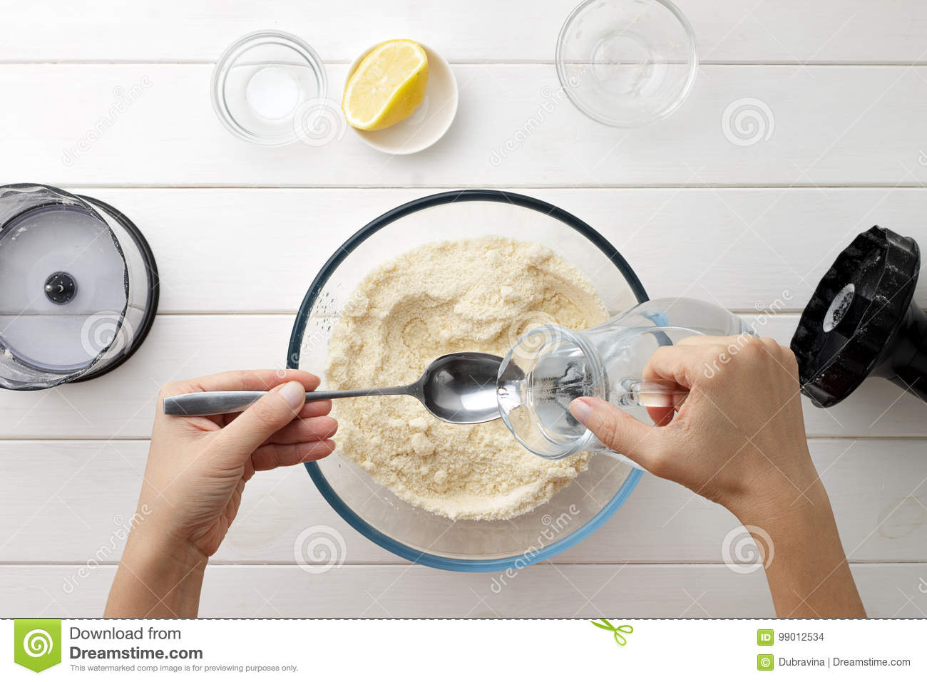 Step by step recipe galette or pie with nectarines female hands step by step recipe galette or pie with nectarines female hands pour water from a jug into spoon for dough cooking process top view forumfinder Gallery