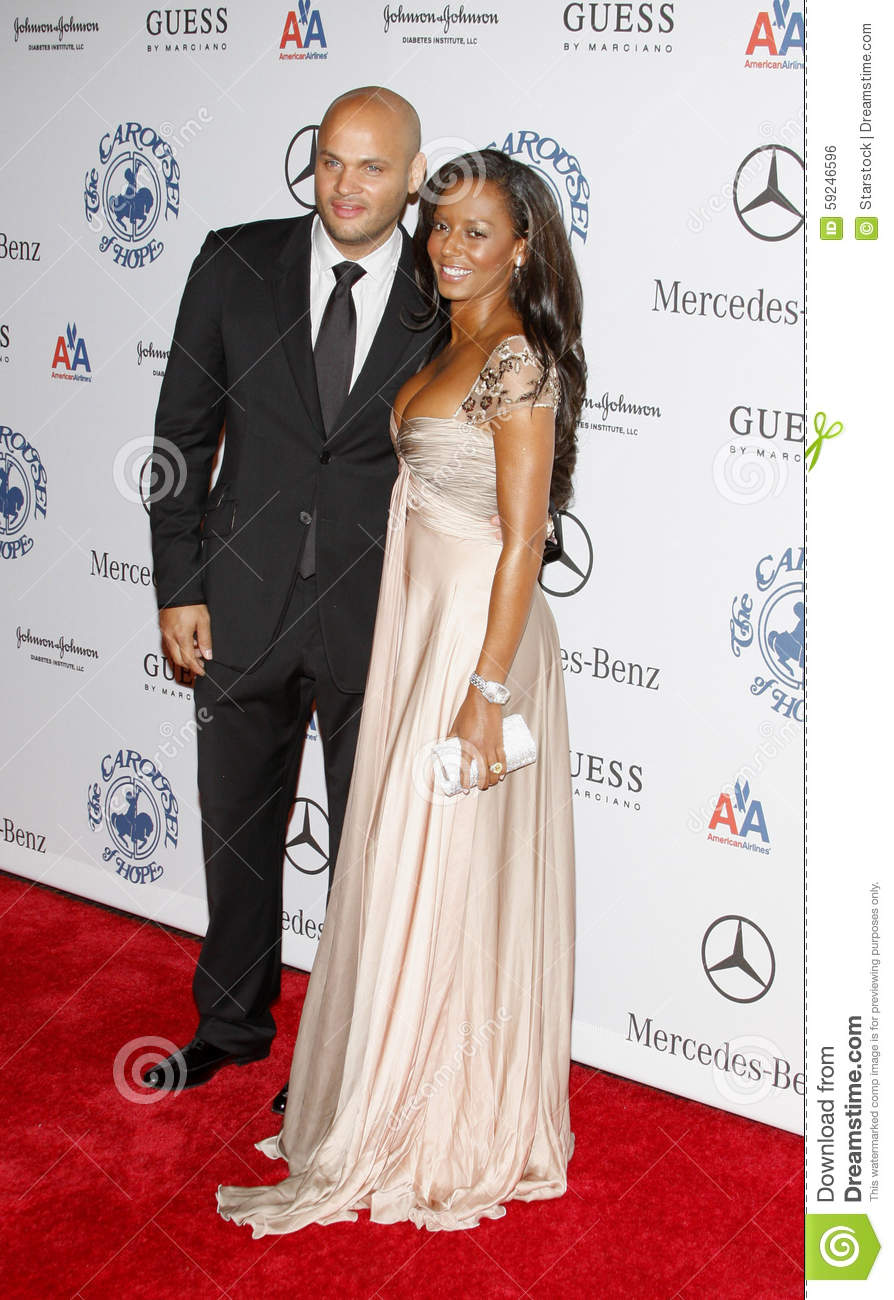 Stephen Belafonte y Melanie Brown