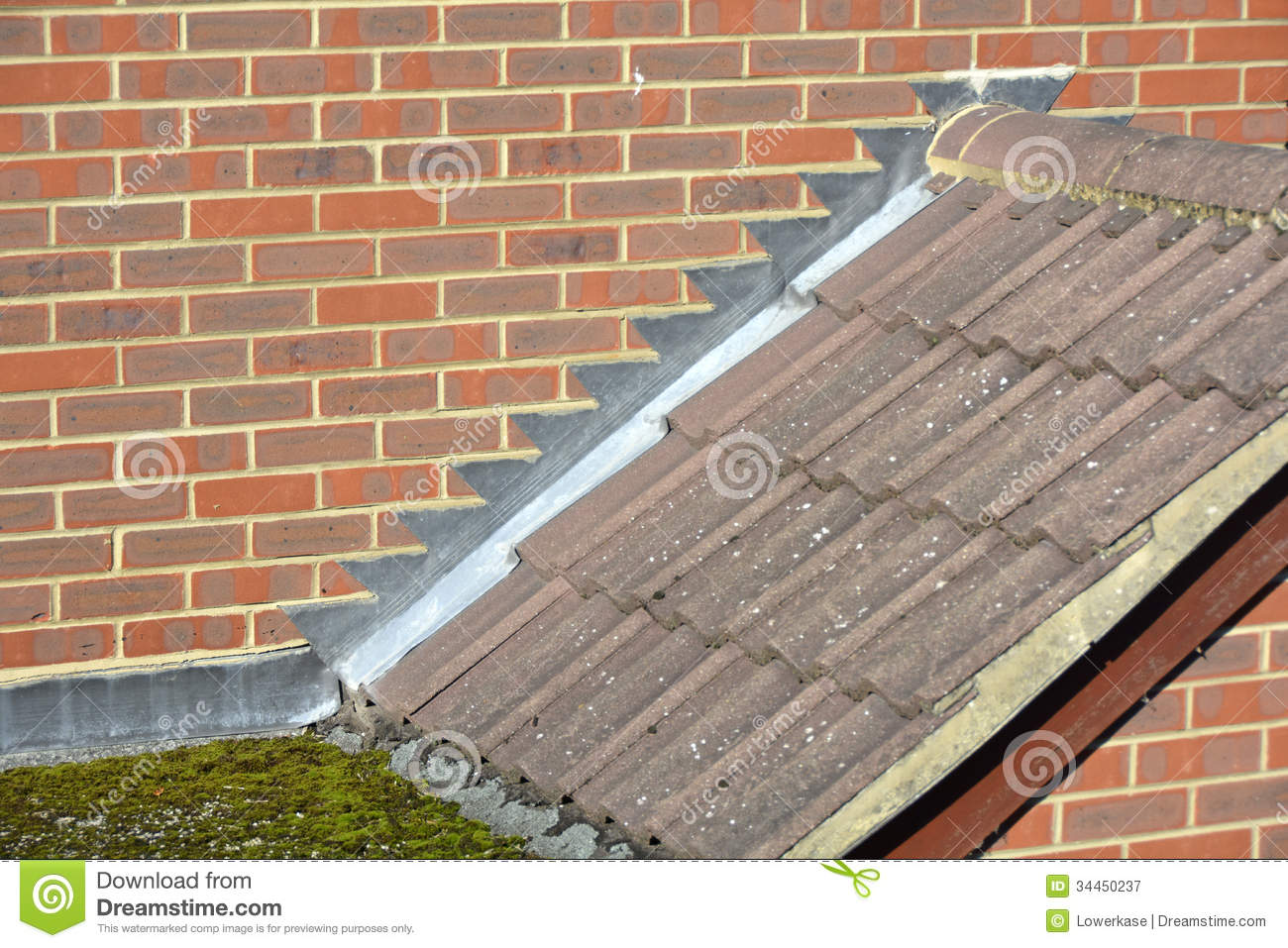 Stepped Lead Flashing Stock Image Image Of Architecture