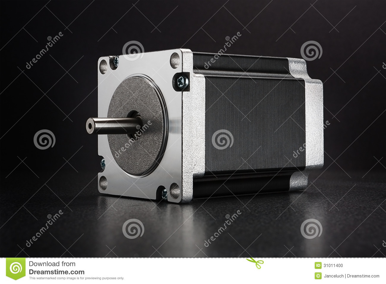 Linear Stepper Motor Actuator Royalty Free Stock Photo 92943423