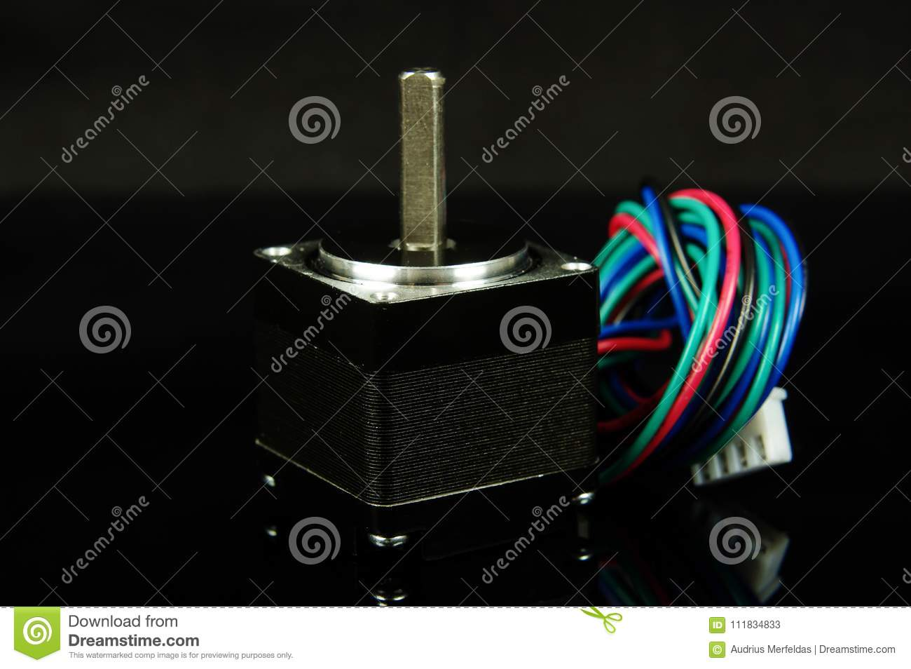 Stepper Motor With Wires And Connector Stock Image Of Wiring
