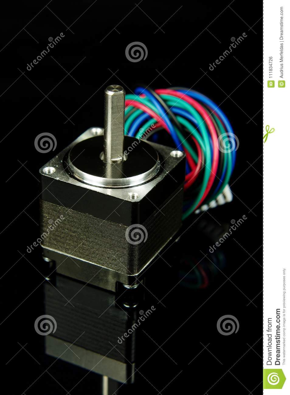 Stepper Motor With Wires And Connector Isolated Stock Photo Image Wiring