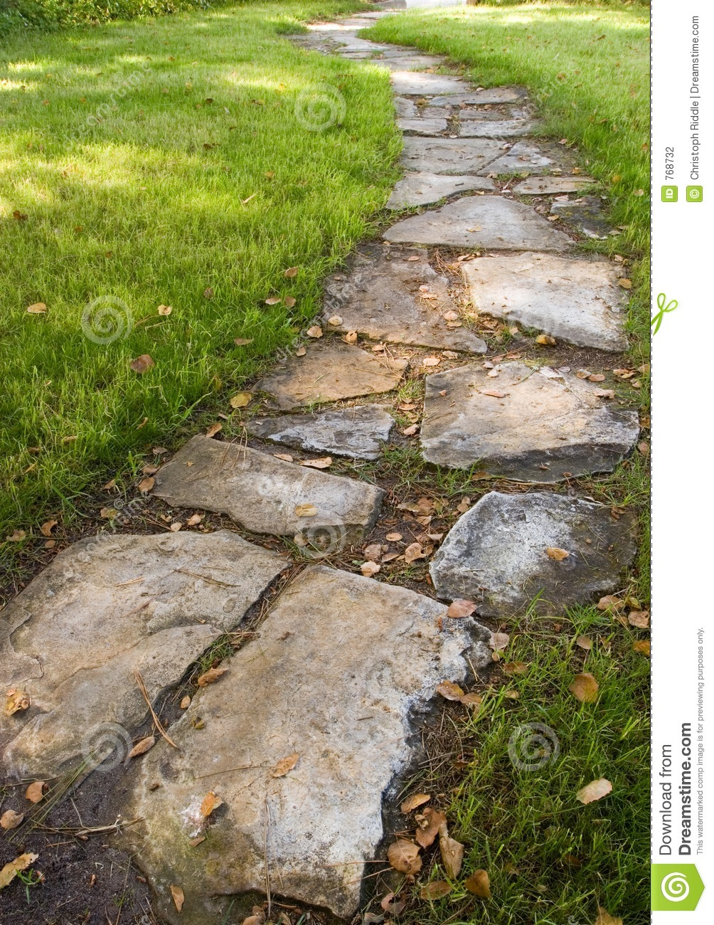 Stepping stone path stock photo image of calm peace for Stone path in grass