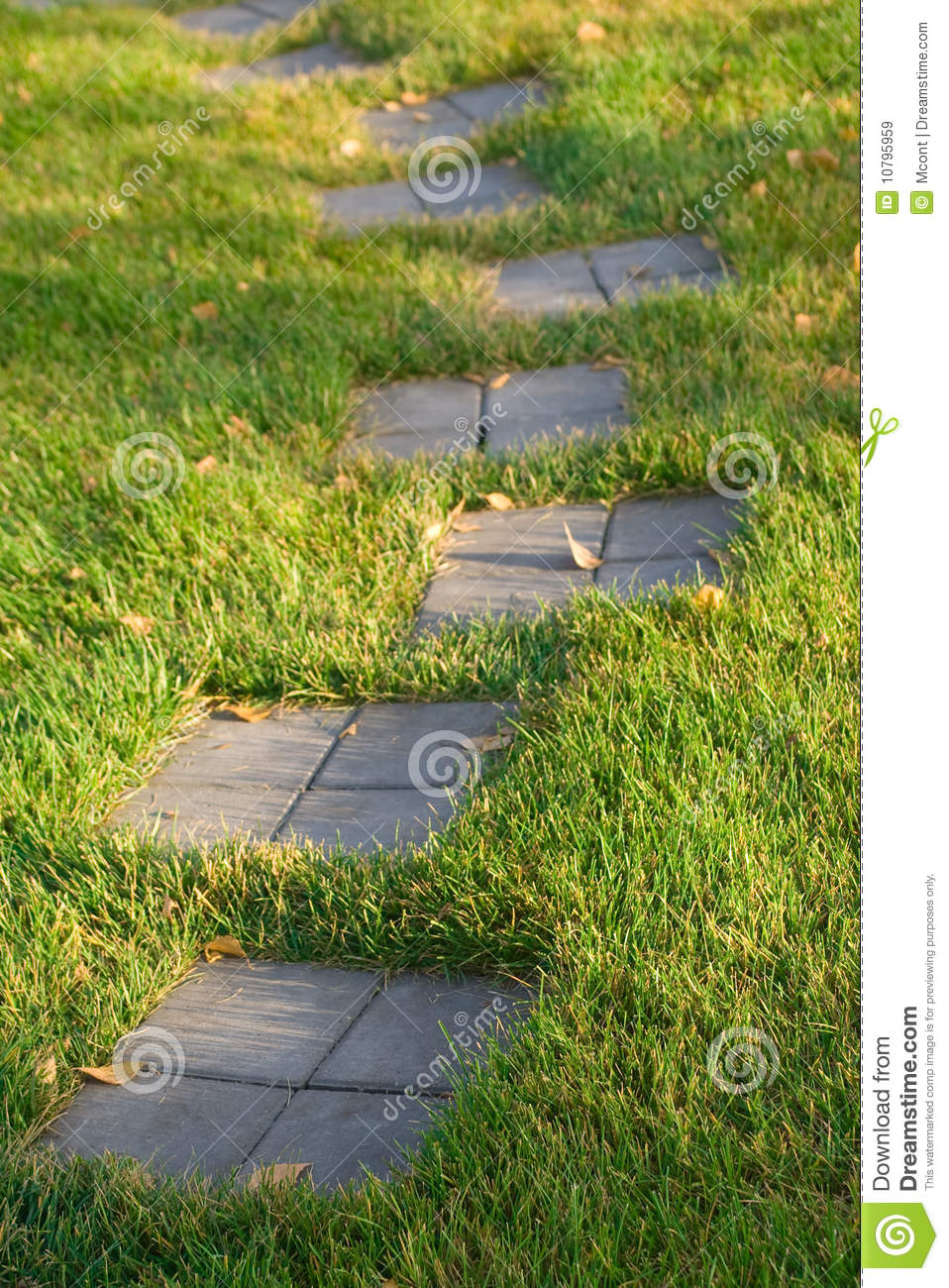 Stepping stone path on grass stock image image 10795959 for Stone path in grass