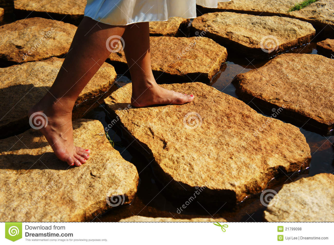 Stepping On Stones Stock Photography