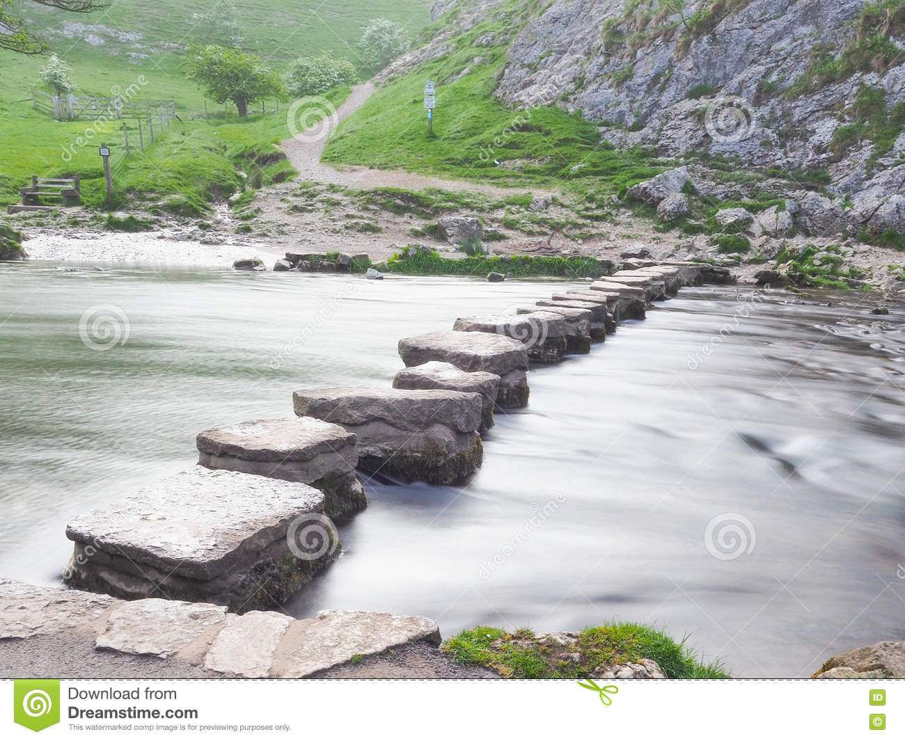 Stepping Stones at Dove Dale
