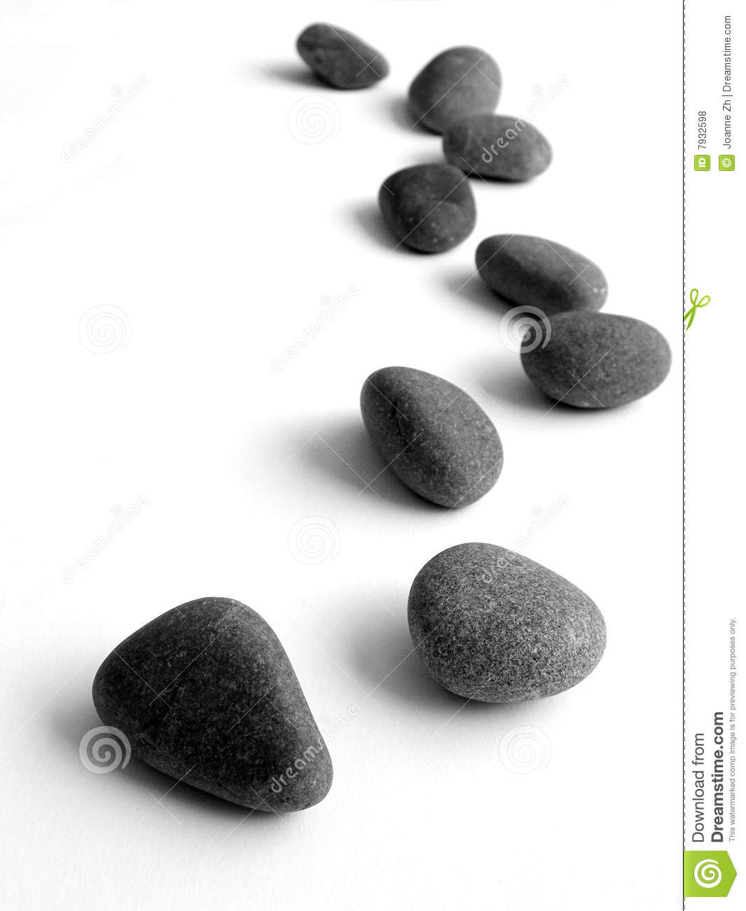 Stepping stones isolated