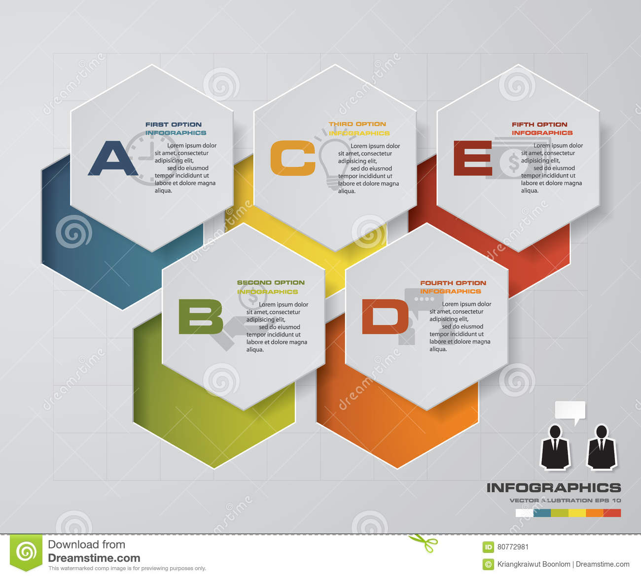 5 steps chart layout for sample text data design clean template rh dreamstime com Sample Network Diagram Data Flow Diagram Example