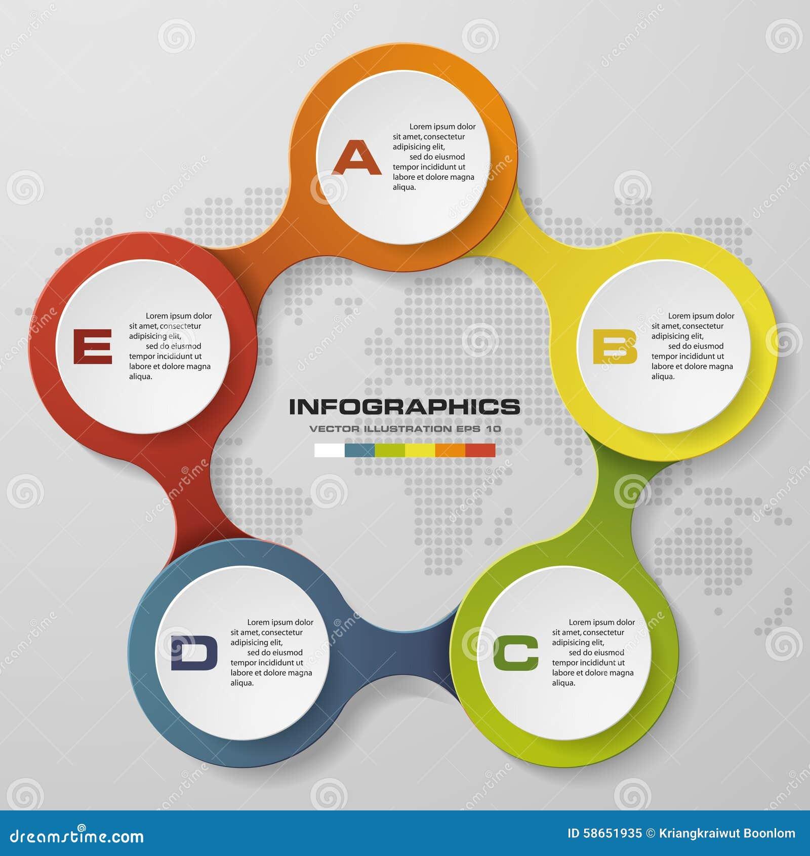 5 steps circle infographics diagram stock vector illustration of download 5 steps circle infographics diagram stock vector illustration of clip banner ccuart Choice Image