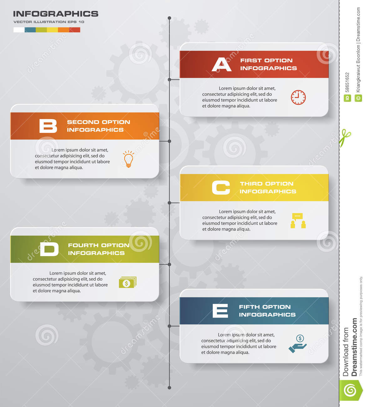 5 Steps Clean Number Banners Templategraphic Or Website Layout – Timeline Website Template