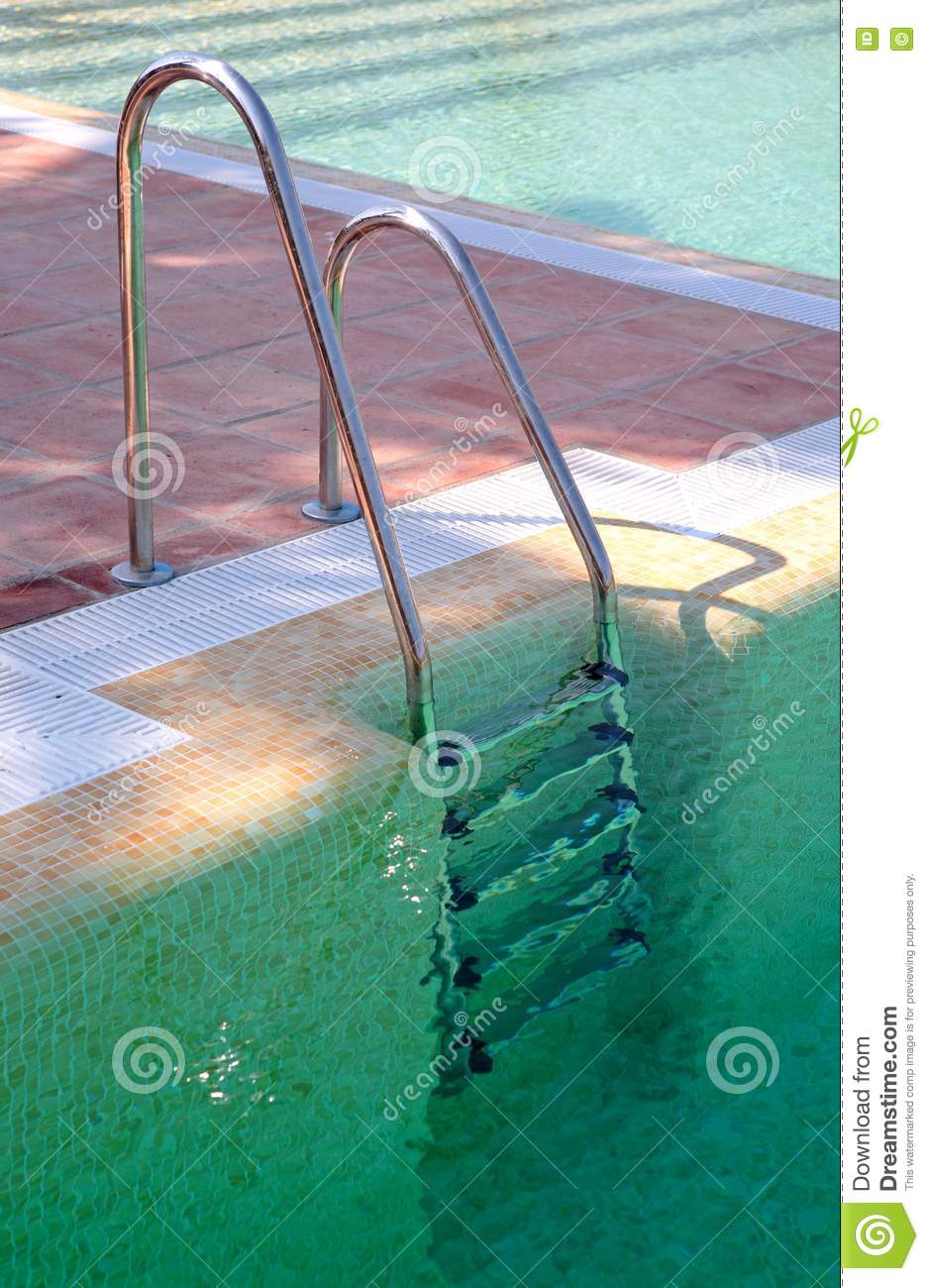 Steps Leading Out Of Clear Green Swimming Pool Royalty Free Stock Images Image 1268729