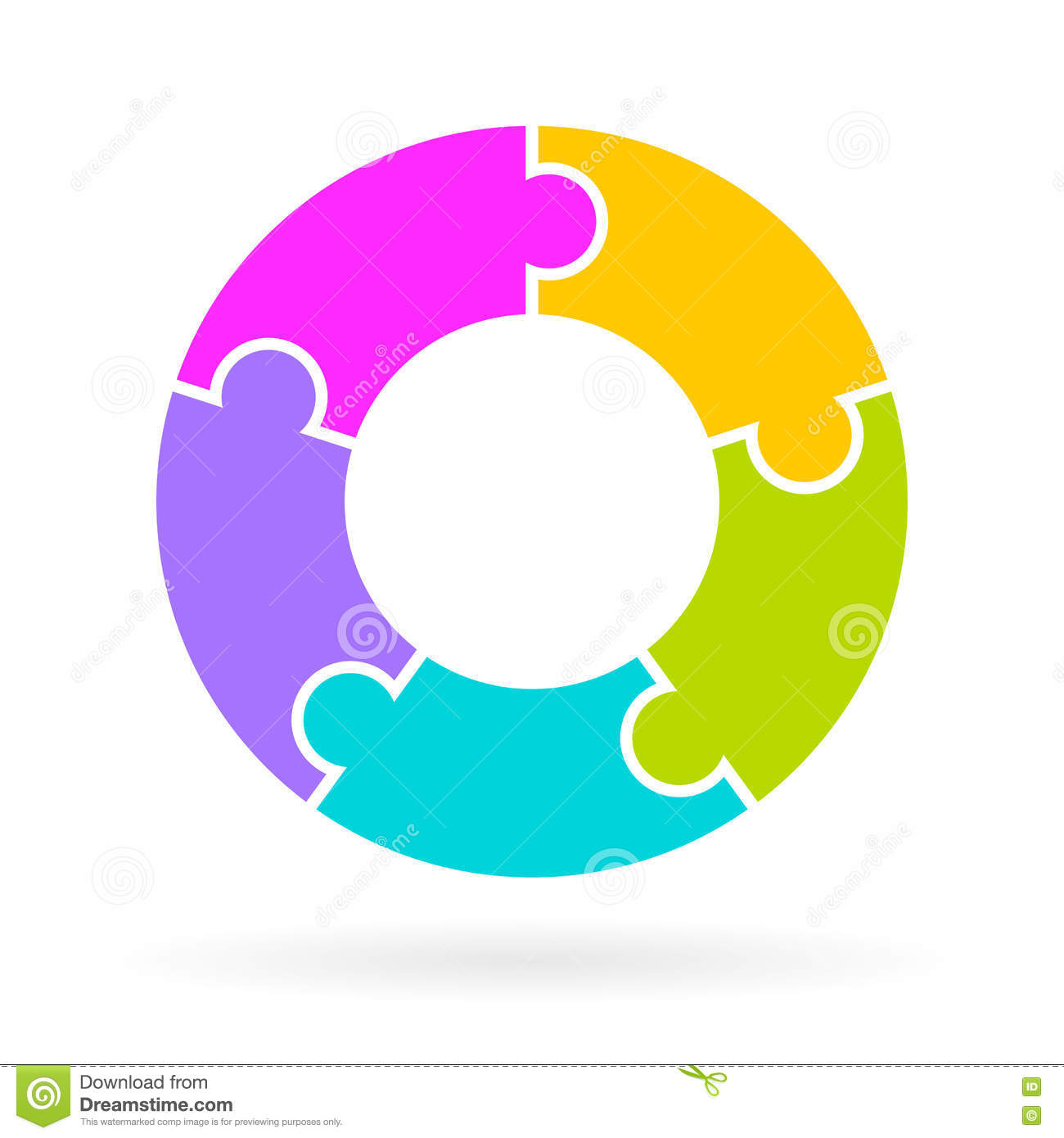 5 Steps Lifecycle Diagram Stock Vector  Illustration Of